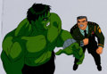 Animation Art:Production Cel, The Incredible Hulk Hulk and General Ross Production CelSetup and Animation Drawing (Marvel Films, 1995).. ... (Total: 3 )