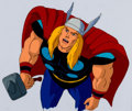 Animation Art:Production Cel, The Incredible Hulk Thor Production Cel (Marvel Films,1995).. ...