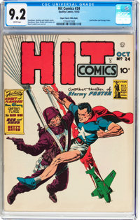 Hit Comics #24 Mile High Pedigree (Quality, 1942) CGC NM- 9.2 White pages