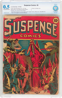 Suspense Comics #3 Incomplete (Continental Magazines, 1944) CBCS PR 0.5 Cream to off-white pages