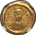 Ancients:Roman Imperial, Ancients: Leo I the Great, Eastern Roman Emperor (AD457-474). AV solidus (4.45 gm). NGC AU 5/5 - 4/5....