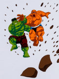 Animation Art:Production Cel, The Fantastic Four The Thing and The Hulk Production Cel (Marvel Films, 1995)....
