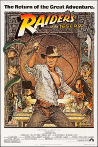 "Raiders of the Lost Ark (Paramount, R-1982). Poster (40"" X 60""). Adventure"