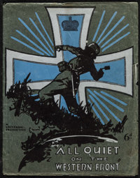 "All Quiet on the Western Front (Universal, 1930). British Program (20 Pages, 9"" X 11.5""). Academy Award Winner..."