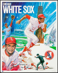 """Chicago White Sox Baseball (ProMotions, 1971). Posters (8) Identical (23"""" X 29""""). Sports ... (Total: 8 Items)"""