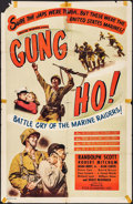 "Movie Posters:War, Gung Ho! & Others Lot (Film Classics, R-1948). One Sheets (3)(27"" X 41""). War.. ... (Total: 3 Items)"