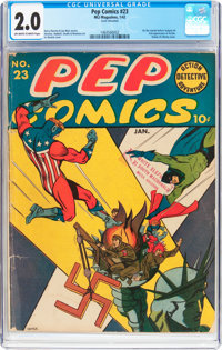 Pep Comics #23 (MLJ, 1942) CGC GD 2.0 Off-white to white pages