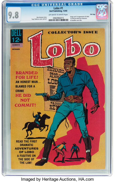 Lobo #1 File Copy (Dell, 1965) CGC NM/MT 9.8 Off-white to white pages....