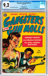 Gangsters and Gun Molls #2 Mile High pedigree (Avon, 1951) CGC NM- 9.2 White pages