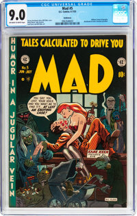 MAD #5 Bethlehem Pedigree (EC, 1953) CGC VF/NM 9.0 Off-white to white pages