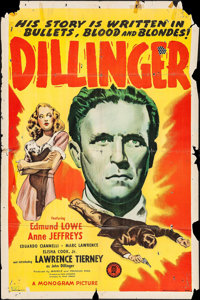 "Dillinger & Other Lot (Monogram, 1945). One Sheets (2) (27"" X 41""). Film Noir. ... (Total: 2 Items)"