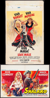 "Viva Maria! & Other Lot (United Artists, 1967). Belgians (2) (14"" X 21.25"", 16.75"" X 27.5"")..."