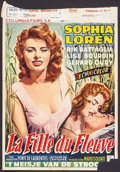 """Movie Posters:Foreign, Woman of the River (Columbia, 1955). Trimmed Belgian (14"""" X 20""""). Foreign.. ..."""