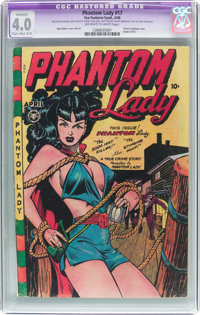 Phantom Lady #17 (Fox Features Syndicate, 1948) CGC Apparent VG 4.0 Slight to Moderate (B-2) Off-white to white pages...