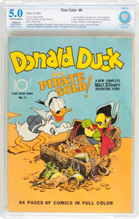 Four Color #9 Donald Duck (Dell, 1942) CBCS Restored VG/FN 5.0 Slight to Moderate (A) Off-white to white pages