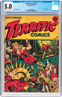 Terrific Comics #5 (Continental Magazines, 1944) CGC VG/FN 5.0 Cream to off-white pages