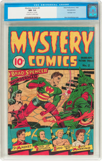 Mystery Comics #2 Pennsylvania Pedigree (Wise Publications, 1944) CGC NM- 9.2 Off-white to white pages