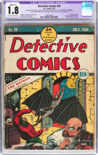 Detective Comics #29 (DC, 1939) CGC Apparent GD- 1.8 Slight (C-1) Cream to off-white pages