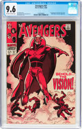 Silver Age (1956-1969):Superhero, The Avengers #57 (Marvel, 1968) CGC NM+ 9.6 Off-white to whitepages....