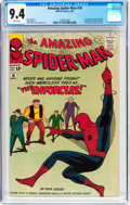 Silver Age (1956-1969):Superhero, The Amazing Spider-Man #10 (Marvel, 1964) CGC NM 9.4 Whitepages....