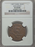 Colonials, 1787 NJERSY New Jersey Copper, Camel Head VF20 NGC. NGC Census: (1/15). PCGS Population: (6/58). ...
