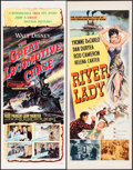 "Movie Posters:Action, The Great Locomotive Chase & Others Lot (Buena Vista, 1956).Inserts (3) (14"" X 36"") & Half Sheet (22"" X 28""). Action.. ...(Total: 4 Items)"
