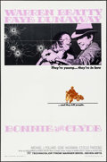 "Movie Posters:Crime, Bonnie and Clyde (Warner Brothers-Seven Arts, 1967). One Sheet (27""X 41""). Crime.. ..."