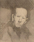 Prints, Jacques Villon (French, 1875-1963). Untitled (Portrait of a man), 1930. Etching. 7-1/8 x 6 inches (18.1 x 15.2 cm) (imag...