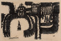 Prints, Carol Summers (American, b. 1925). The Vatican Seen from the Air. Lithograph. 15 x 22 inches (38.1 x 55.9 cm) (sight). E...