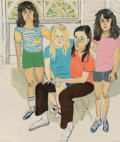 Prints, Alice Neel (American, 1900-1984). The Family, 1982. Lithograph in colors. 31-1/2 x 26-7/8 inches (80 x 68.3 cm) (sheet)...