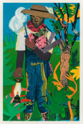 Prints, Romare Howard Bearden (American, 1911-1988). The Lantern, 1979. Lithograph in colors. 23-1/2 x 15-1/2 inches (59.7 x 39....