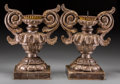 Decorative Arts, Continental:Lamps & Lighting, A Pair of Italian Baroque-Style Giltwood Candle Prickets, 19thcentury. 16-5/8 inches high (42.2 cm). ... (Total: 2 Items)