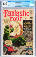 Silver Age (1956-1969):Superhero, Fantastic Four #1 (Marvel, 1961) CGC VG 4.0 Off-white to whitepages....