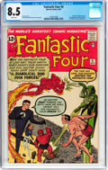 Silver Age (1956-1969):Superhero, Fantastic Four #6 (Marvel, 1962) CGC VF+ 8.5 White pages....