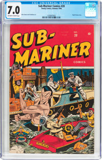 Sub-Mariner Comics #20 (Timely, 1946) CGC FN/VF 7.0 Off-white to white pages
