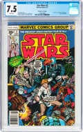 Bronze Age (1970-1979):Science Fiction, Star Wars #2 35 Cent Price Variant (Marvel, 1977) CGC VF- 7.5 White pages....