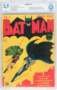 Batman #1 (DC, 1940) CBCS GD+ 2.5 White pages