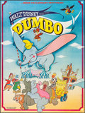 """Movie Posters:Animation, Dumbo (Walt Disney Productions, R-Late 1970s). French Grande (45.5"""" X 61""""). Animation.. ..."""