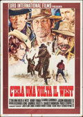 """Movie Posters:Western, Once Upon a Time in the West (Euro International, 1969). Italian 2 - Fogli (39"""" X 55""""). Western.. ..."""