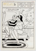 Original Comic Art:Splash Pages, Dan DeCarlo Laugh Comics #143 Veronica's Pin-Up IllustrationOriginal Art (Archie Comics, 1963)....