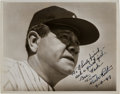 Baseball Collectibles:Photos, 1947 Babe Ruth Signed Photograph from The Beatrice Wade Collection,PSA/DNA NM 7....
