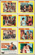 "Movie Posters:Action, Esther and the King & Other Lot (20th Century Fox, 1960). LobbyCard Sets of 8 (2 Sets) (11"" X 14""). Action.. ... (Total: 16 Items)"