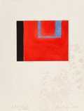 Fine Art - Work on Paper:Print, Robert Motherwell (American, 1915-1991). Untitled, 1975.Aquatint and etching in colors on Rives BFK paper. 9-1/4 x 11-3...