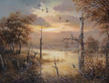 Fine Art - Painting, American:Contemporary   (1950 to present)  , J.W. Thrasher (American, b. 1940). Tranquil Morning. Oil oncanvas. 18 x 24 inches (45.7 x 61 cm). Signed lower left:...