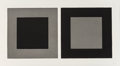 Fine Art - Work on Paper:Print, Sol LeWitt (American, 1928-2007). Plate #1, 2, & 3, fromthe Doubles in Black and Gray (three works), 1983. Etching... (Total: 3 Items)