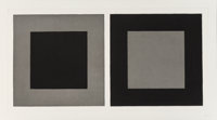 Sol LeWitt (American, 1928-2007) Plate #1, 2, & 3, from the Doubles in Black and Gray (three