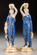 Ceramics & Porcelain, Two Royal Worcester Neoclassical Porcelain Figures, Worcester, England, circa 1899. Marks: (Royal Worcester logotype), ROY... (Total: 2 Items)