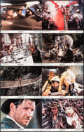 "Movie Posters:Adventure, Indiana Jones and the Temple of Doom (Paramount, 1984). Lobby CardSet of 8 (11"" X 14""). Adventure.. ... (Total: 8 Items)"