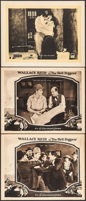 """The Hell Diggers & Other Lot (Paramount, 1921). Lobby Cards (3) (11"""" X 14""""). Drama. ... (Total: 3 Item..."""