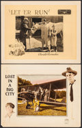 "Movie Posters:Drama, Lost in a Big City & Other Lot (Arrow Film, 1923). Lobby Cards(2) (11"" X 14""). Drama.. ... (Total: 2 Items)"